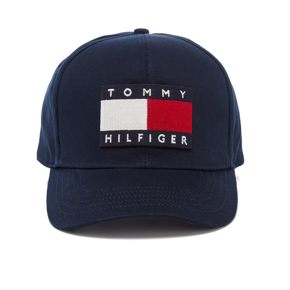 Tommy Hilfiger Men S Large Logo Cap Navy Blazer Clothing