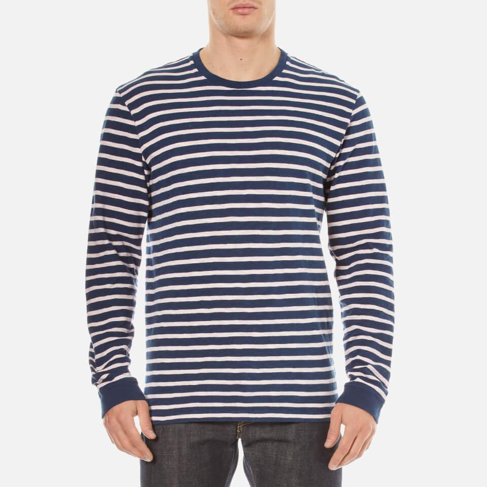 c9701cbdee07e2 Mens Long Sleeve Striped T Shirt Black And White Indie