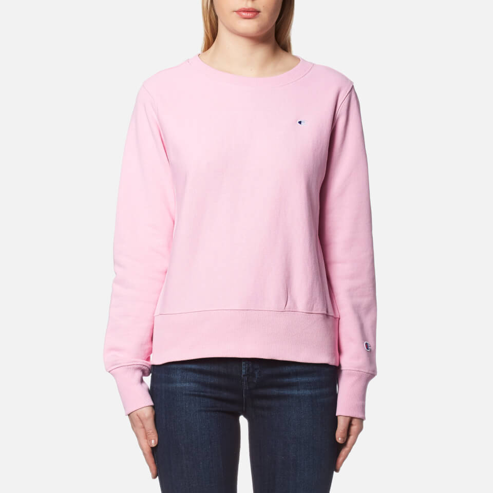 Champion Women's Crew Neck Sweatshirt - Pink Womens ...