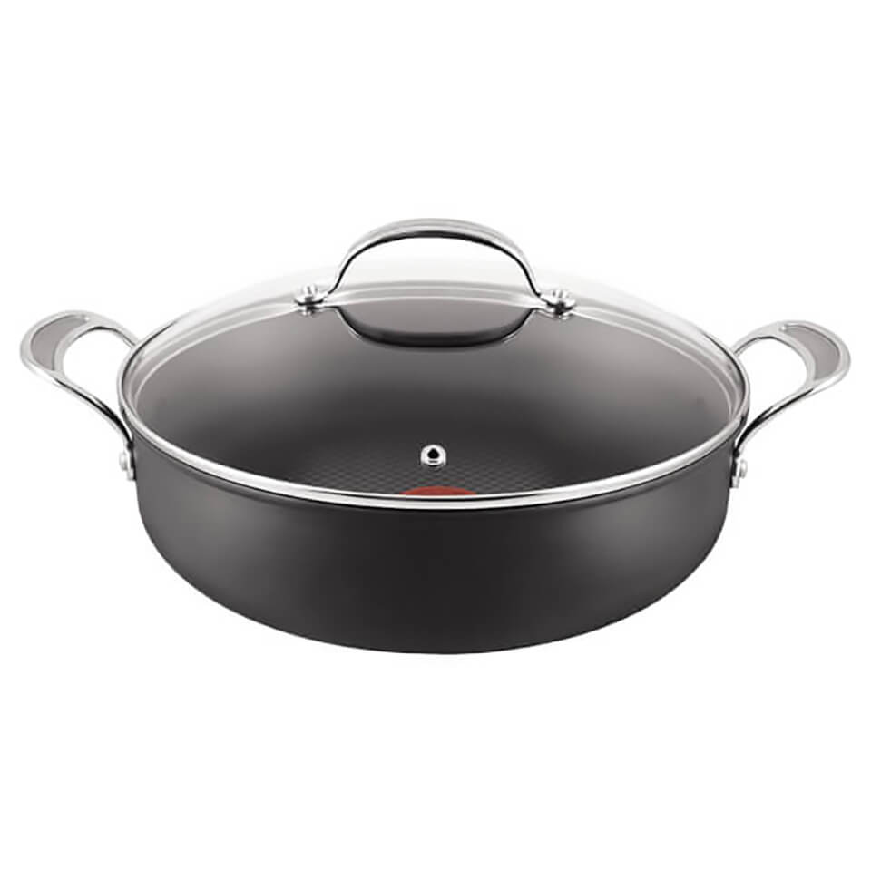 Jamie Oliver By Tefal Hard Anodised Non Stick Shallow Pan