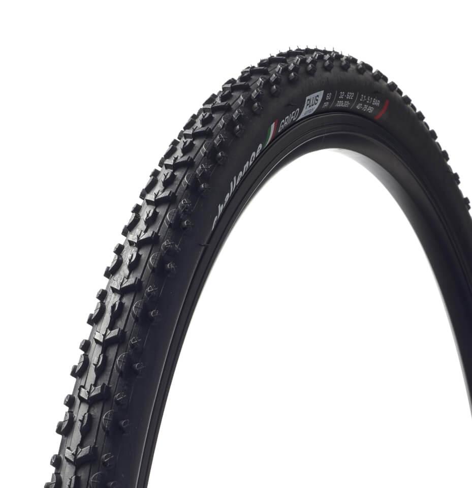 Challenge Grifo Clincher Cyclocross Tyre - Black/Tan - 700c x 33m   Cross-cykler