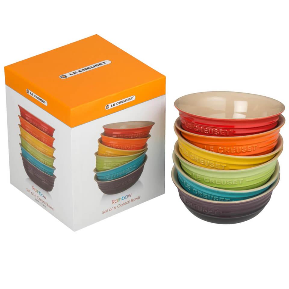Le Creuset Stoneware Rainbow Bowls Set Of 6 Homeware