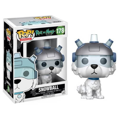 Rick And Morty Snowball Pop Vinyl Figure Pop In A Box Uk