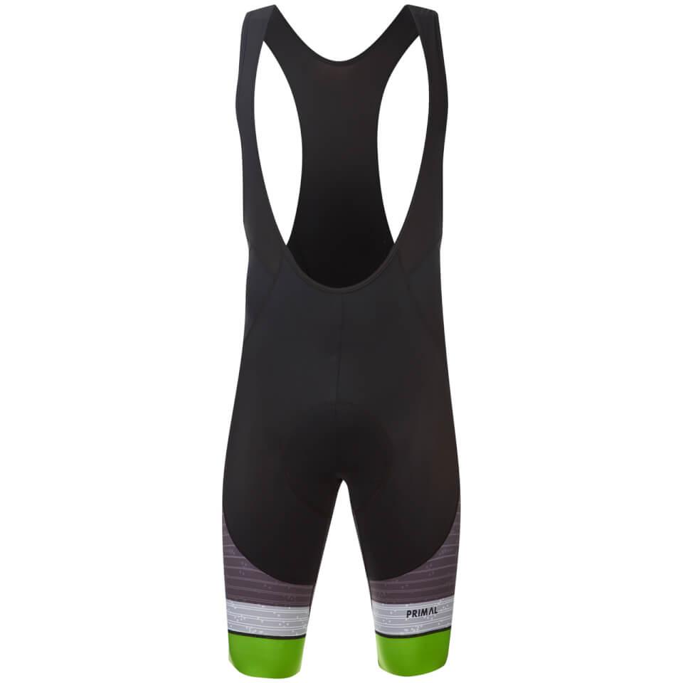 Primal Men's Inertia QX5 Bib Shorts - Grey/Green | Trousers