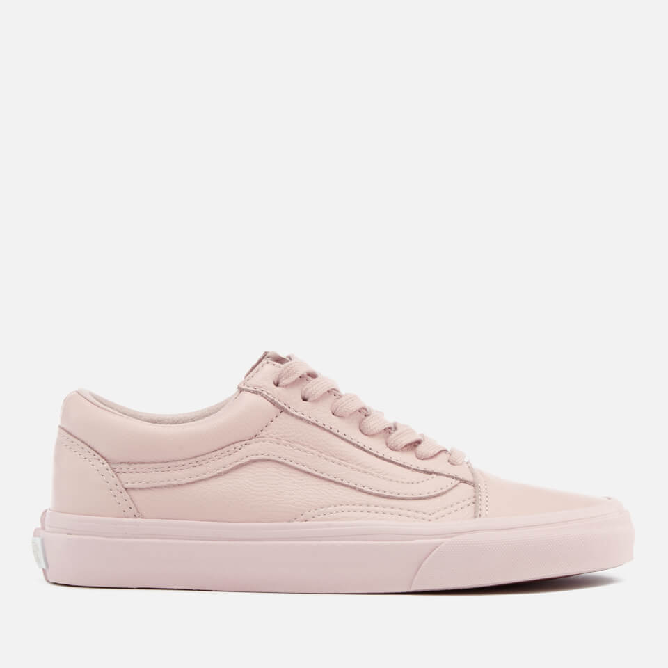 83e973a9e6 Vans Women s Old Skool Leather Trainers - Mono Sepia Rose Womens Footwear