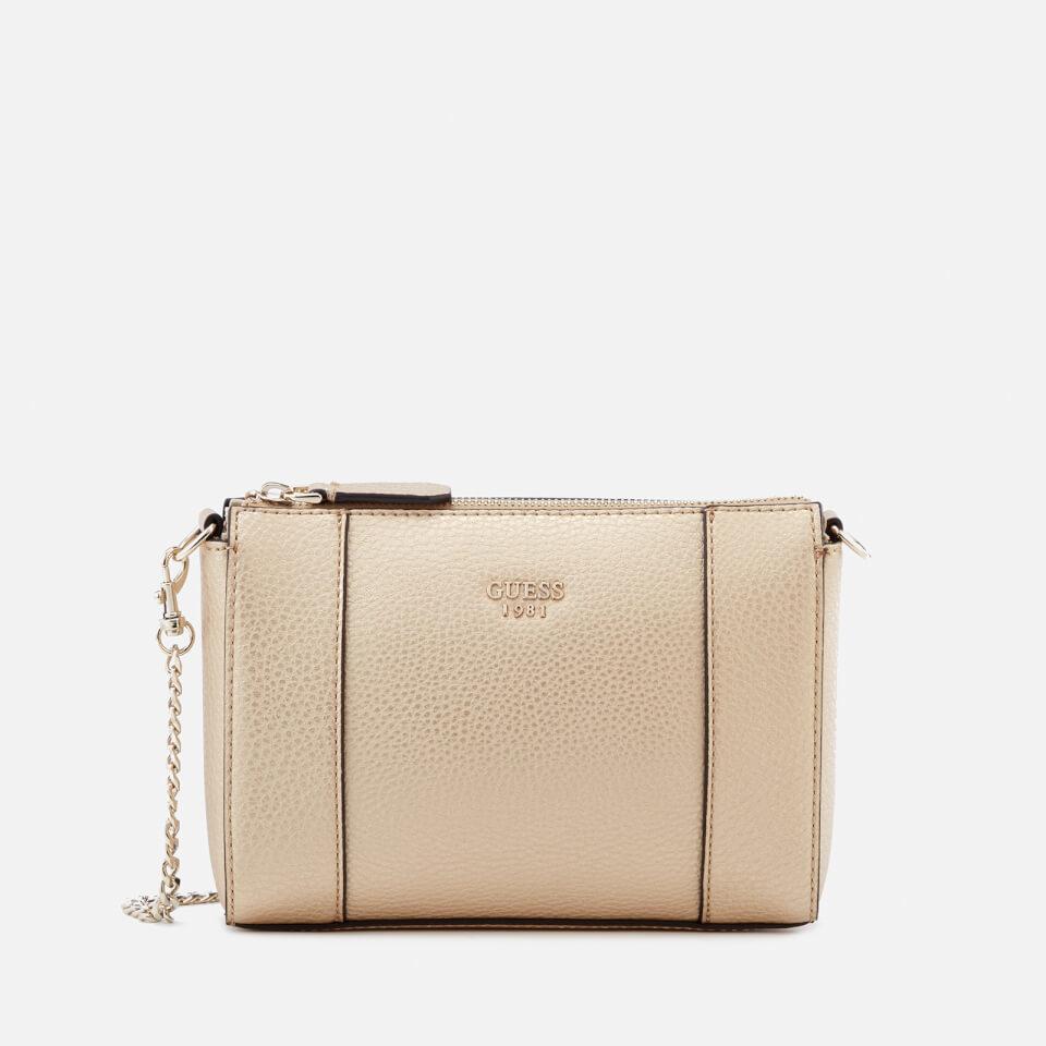 Guess Womenu0026#39;s Kamryn Mini Convertible Cross Body Bag - Gold