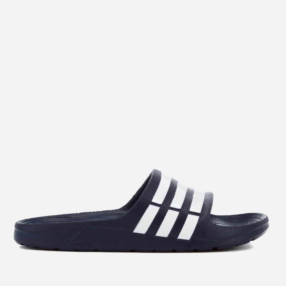 989350ef77718a adidas Duramo Slide Sandals - Dark Blue Sports   Leisure