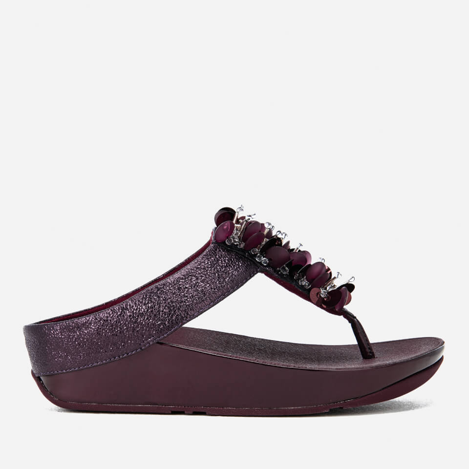 Fitflop Women S Boogaloo Toe Post Sandals Deep Plum
