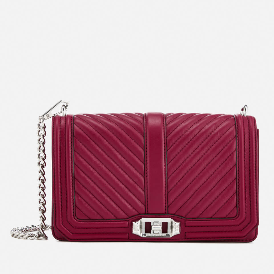 Rebecca Minkoff Women S Chevron Quilted Cross Body Bag Beet