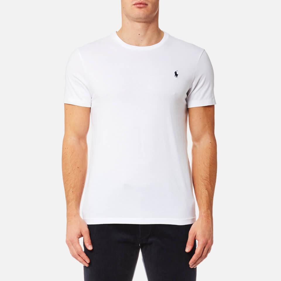 Polo Ralph Lauren Men s Custom Fit Crew Neck T-Shirt - White - Free ... 3ad9433cf497