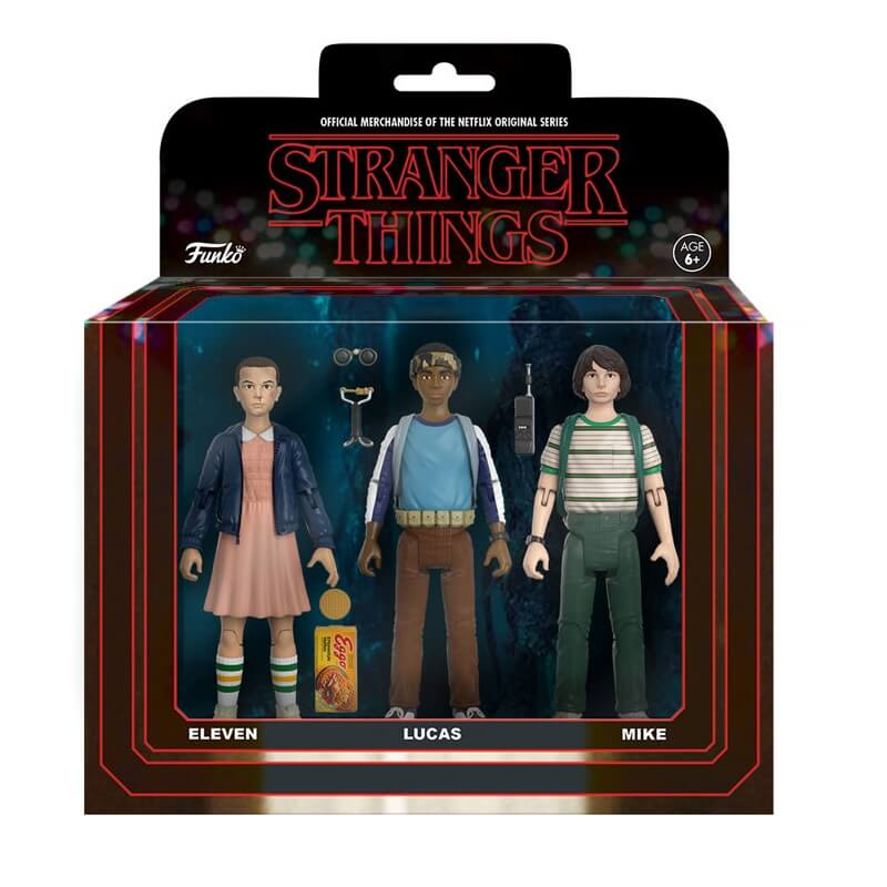 funko stranger things 3 pack eleven lucas and mike action. Black Bedroom Furniture Sets. Home Design Ideas