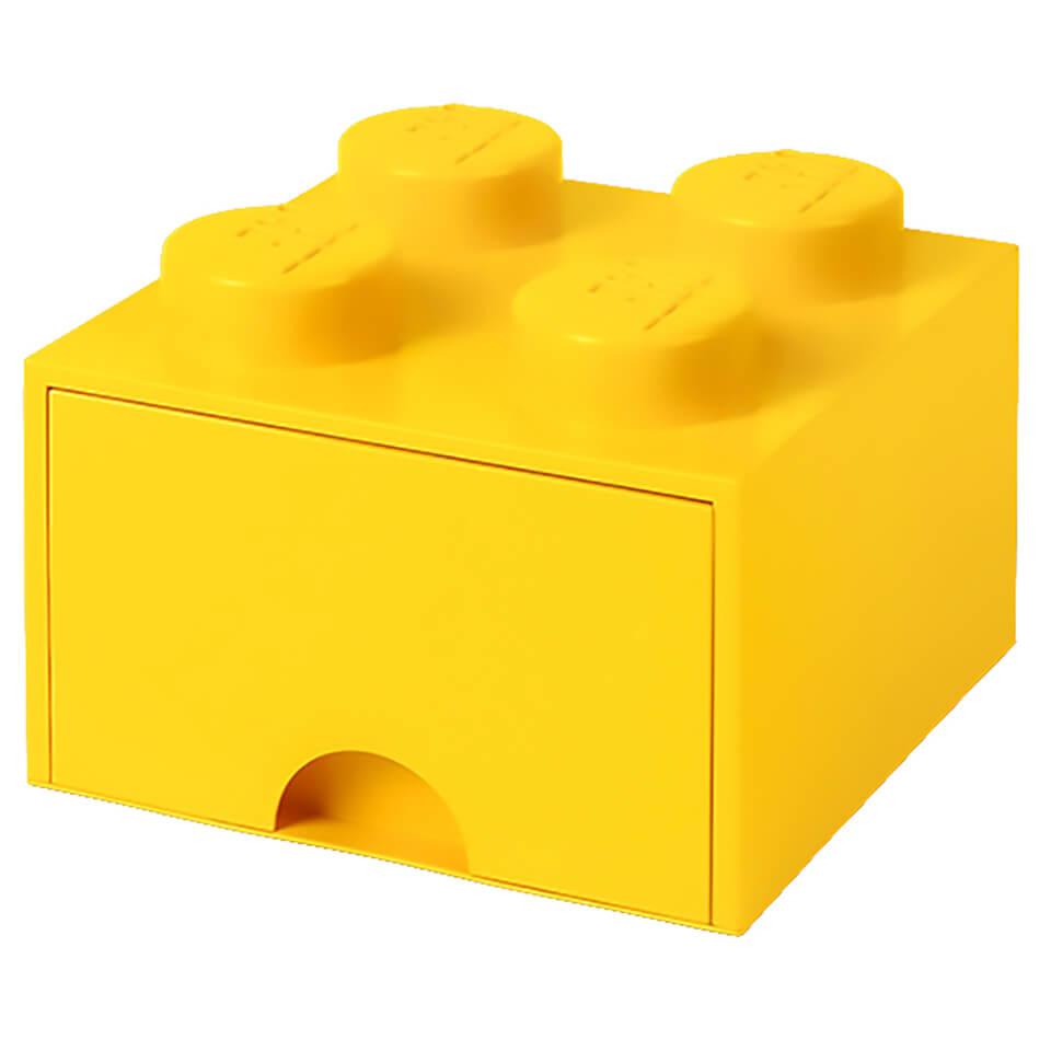 Lego Storage 4 Knob Brick 1 Drawer Bright Yellow Iwoot