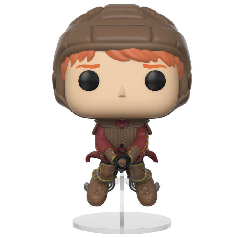 Harry Potter Ron On Broom Pop Vinyl Figure Pop In A Box Us