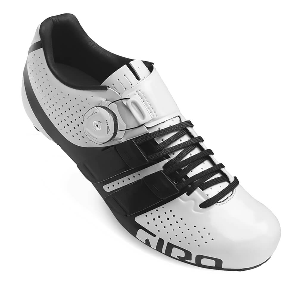 Giro Factress Women's Road Cycling Shoes - White/Black | Shoes and overlays