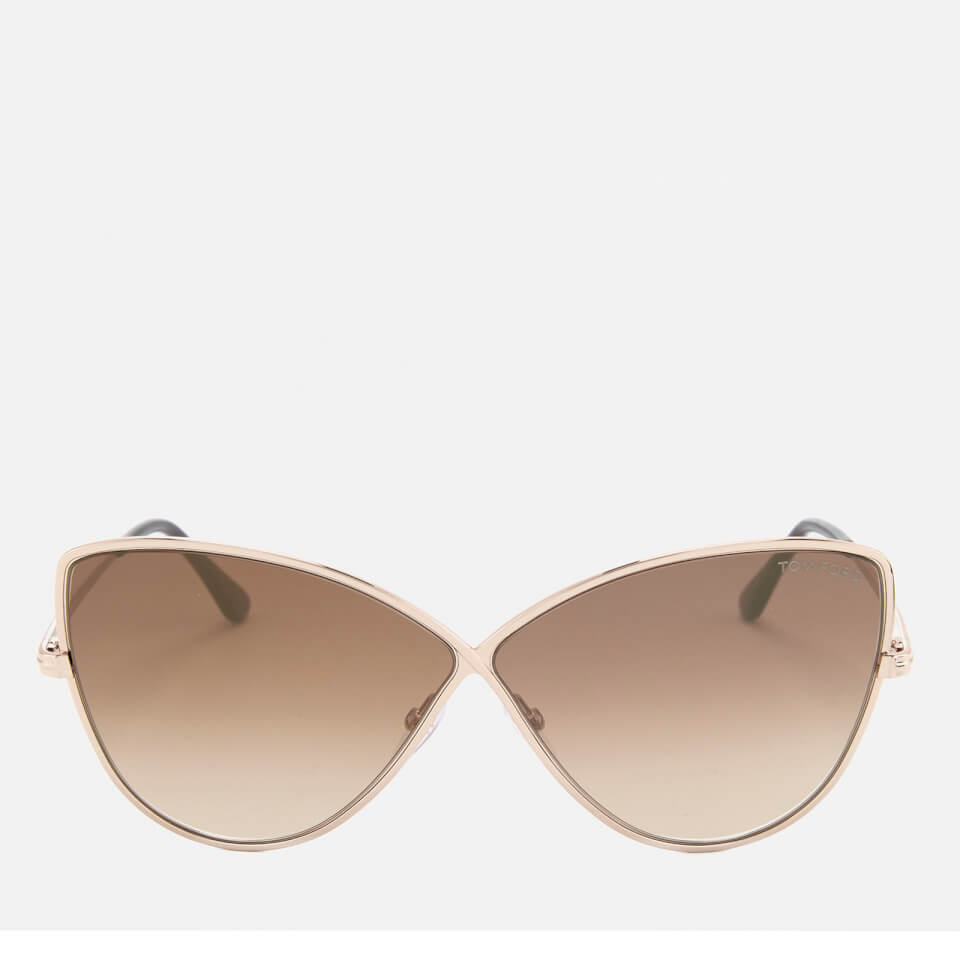 1474d8eeb7078 Tom Ford Women s Elise Butterfly Shape Sunglasses - Rose Gold Brown Mirror