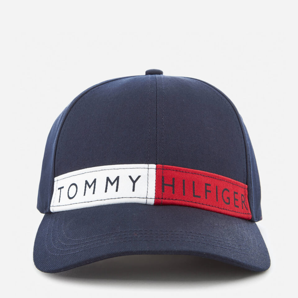 tommy hilfiger women 39 s logo flag cap navy bekleidung. Black Bedroom Furniture Sets. Home Design Ideas