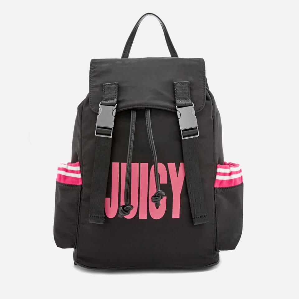 0c7b823859da Juicy Couture Women s Kinney Multi Pocket Backpack - Black Pink Womens  Accessories