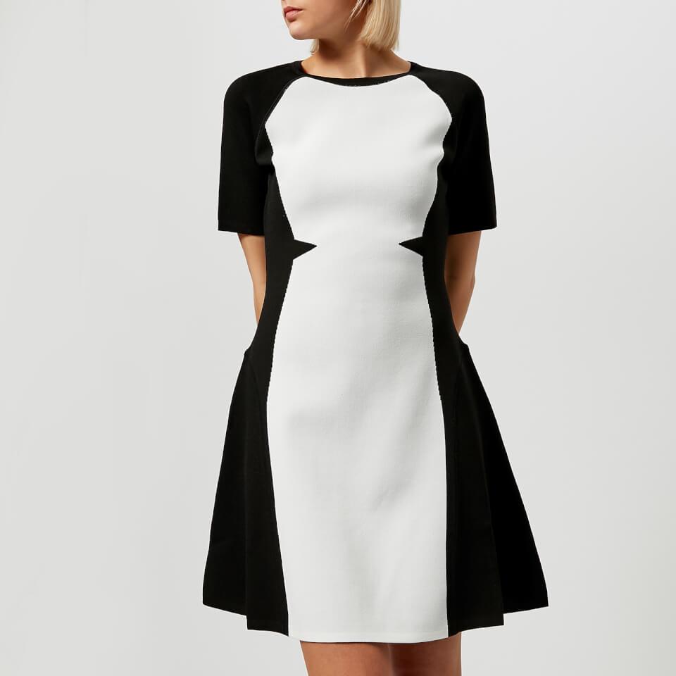 Karl Lagerfeld Women S Flare Dress Black White Womens