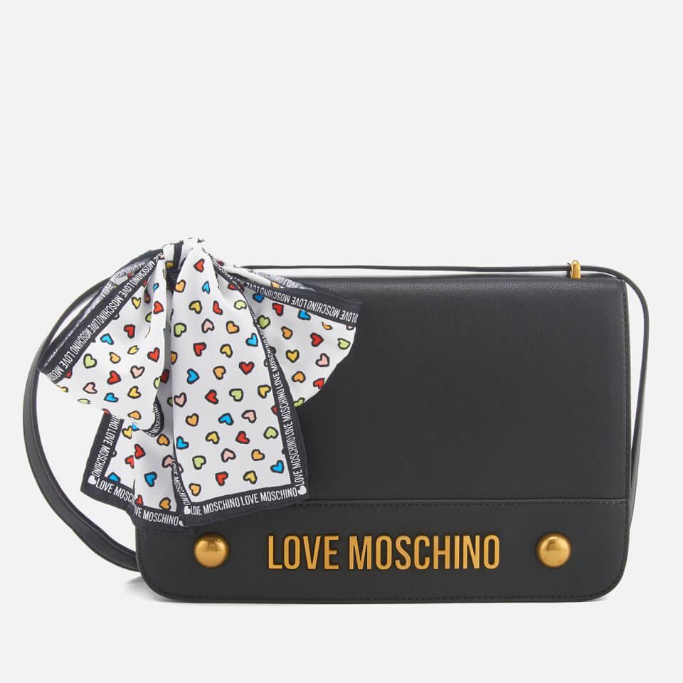 1e8207f07af5 Love Moschino Women s Logo Chain Shoulder Bag - Black Womens Accessories