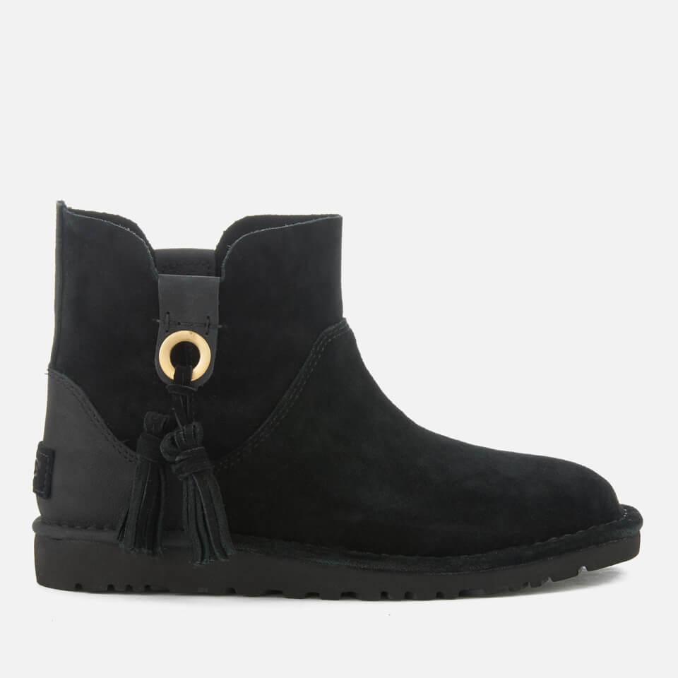 ugg women 39 s gib suede unlined ankle boots black bekleidung. Black Bedroom Furniture Sets. Home Design Ideas