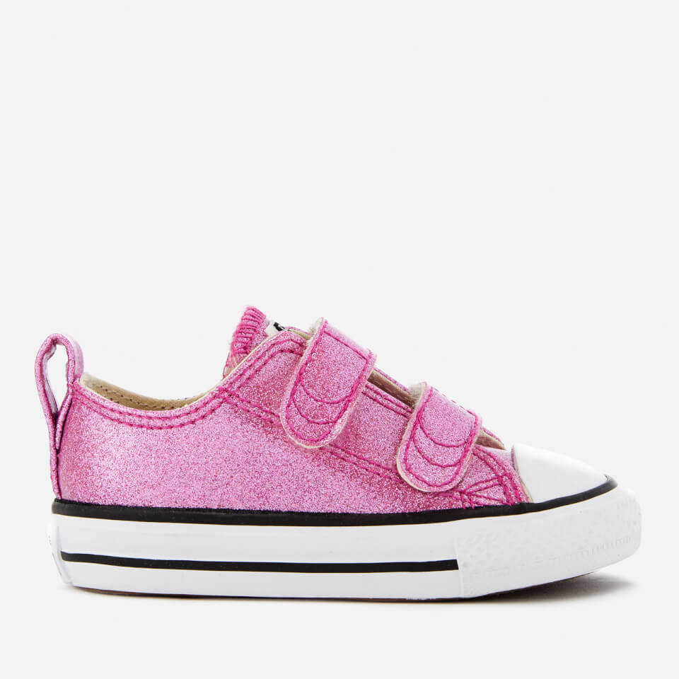 df09b35d8b6d Converse Toddlers  Chuck Taylor All Star 2V Ox Trainers - Bright  Violet Natural White