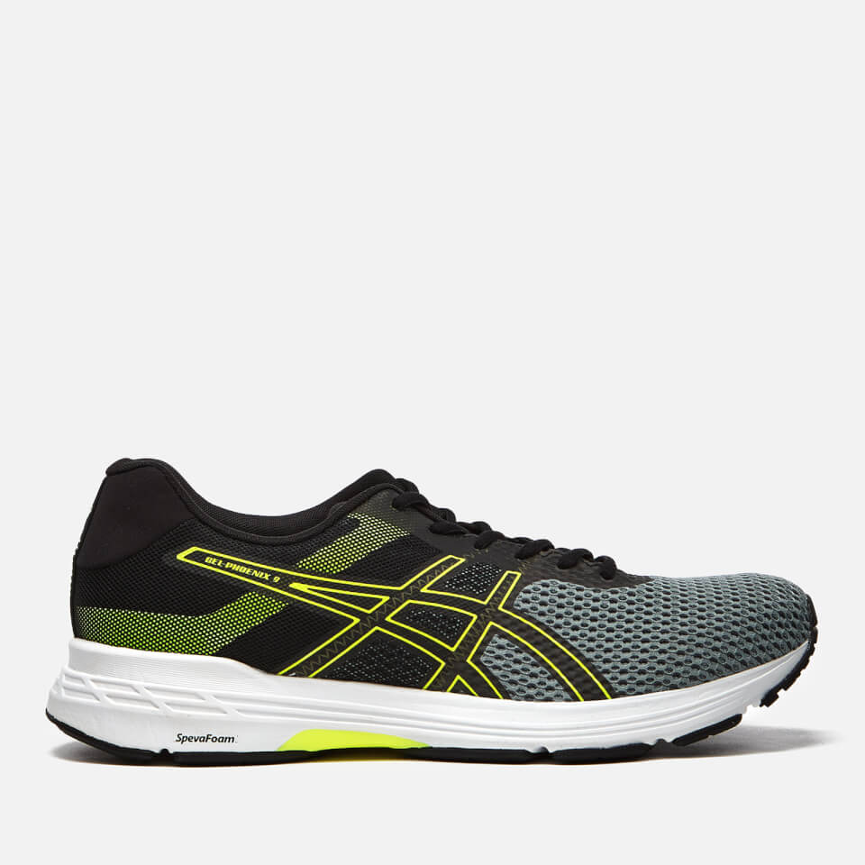 Asics Men's Running Gel Phoenix 9 Trainers Stone GreyBlackSafety Yellow