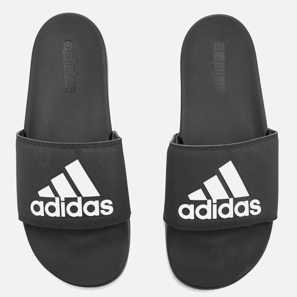 1b2283430c46 adidas Men s Adilette Logo Slide Sandals - Core Black Sports   Leisure