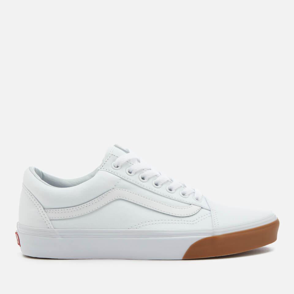 708cf0de3d72 Vans Men s Gum Bumper Old Skool Trainers - True White Mens Footwear ...