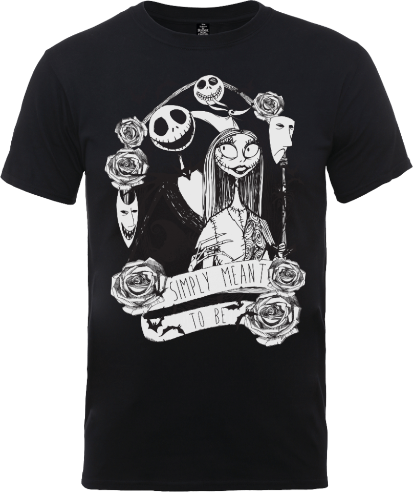 Mens T Shirt Disney Nightmare Before Christmas Jack and Sally