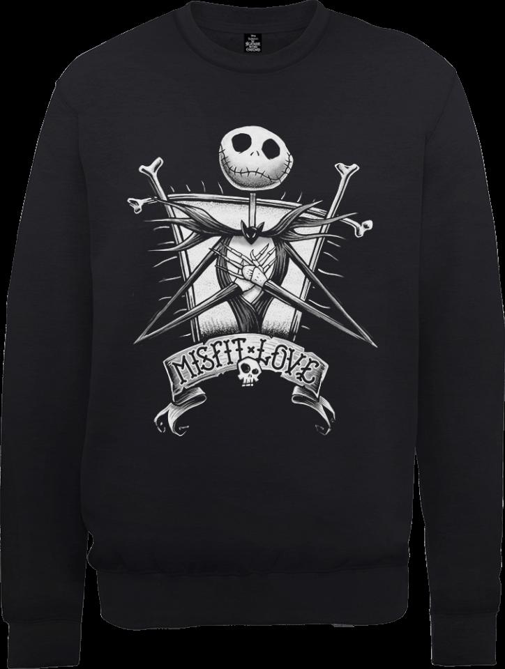 the nightmare before christmas jack skellington misfit love black sweatshirt pop in a box us - Misfits Christmas Sweater