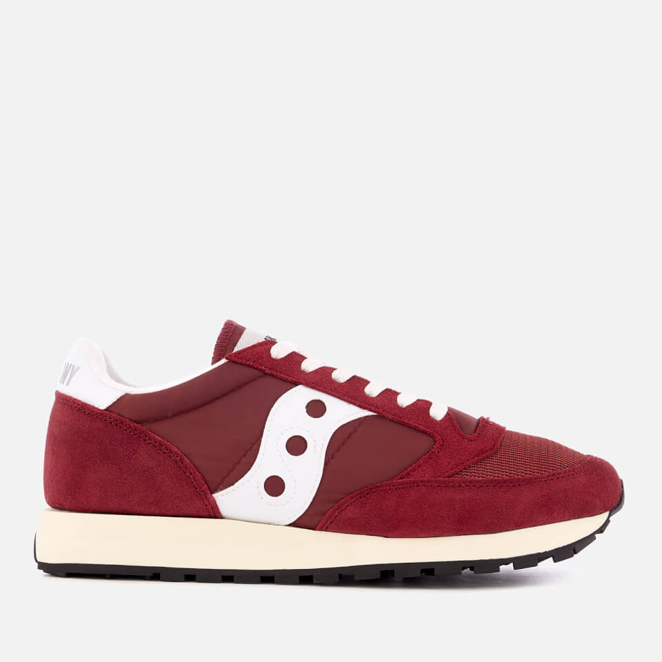 saucony women 39 s jazz original vintage trainers burgundy white damenschuhe. Black Bedroom Furniture Sets. Home Design Ideas