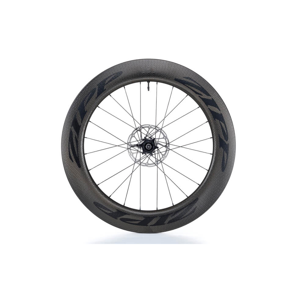 Zipp 808 Firecrest Carbon Clincher Tubeless Disc Brake Rear Wheel | Brake pads
