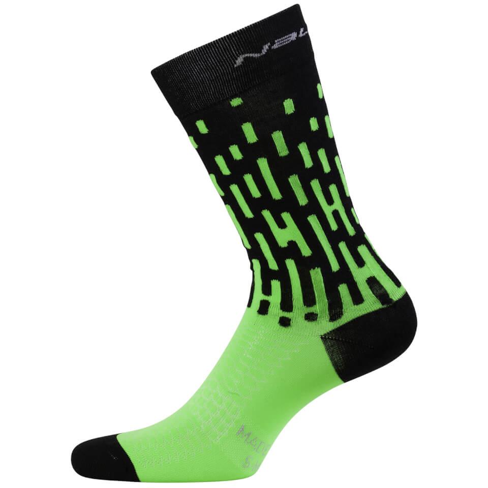 Nalini Fulmine Socks - Black/Green | Socks