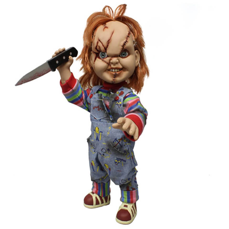 Chucky Mezco Doll With Sounds And Scarred Face