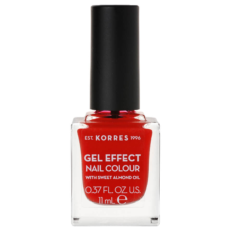 KORRES Gel-Effect Sweet Almond Nail Colour - 48 Coral Red 11ml ...