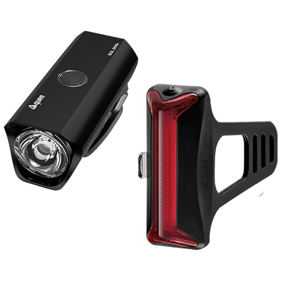 Guee Sol300E Front Cob-X Rear Black Light Twinset | Computer Battery and Charger