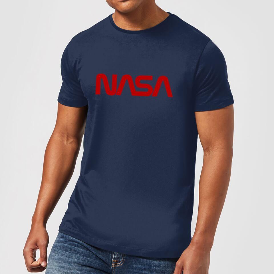 NASA Worm Red Logotype T-Shirt - Navy Clothing | Zavvi