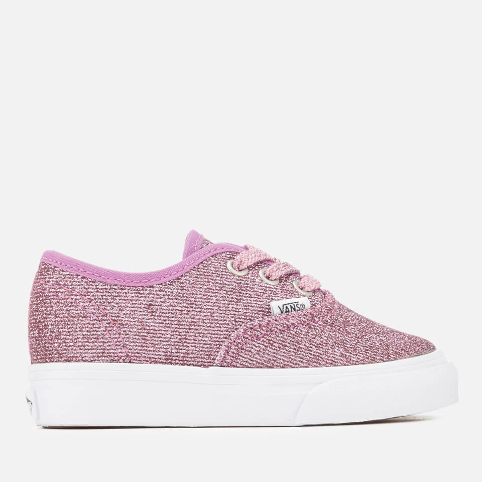 d20493ac5ba Vans Toddlers  Authentic Lurex Glitter Trainers - Pink True White Junior  Clothing