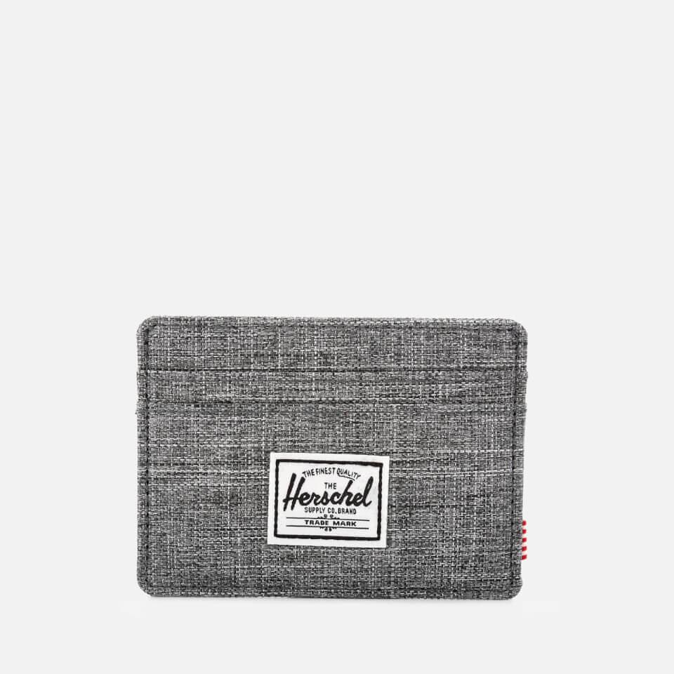 Herschel Supply Co. Men s Charlie Card Holder - Raven Crosshatch Clothing  ae97629c93d14