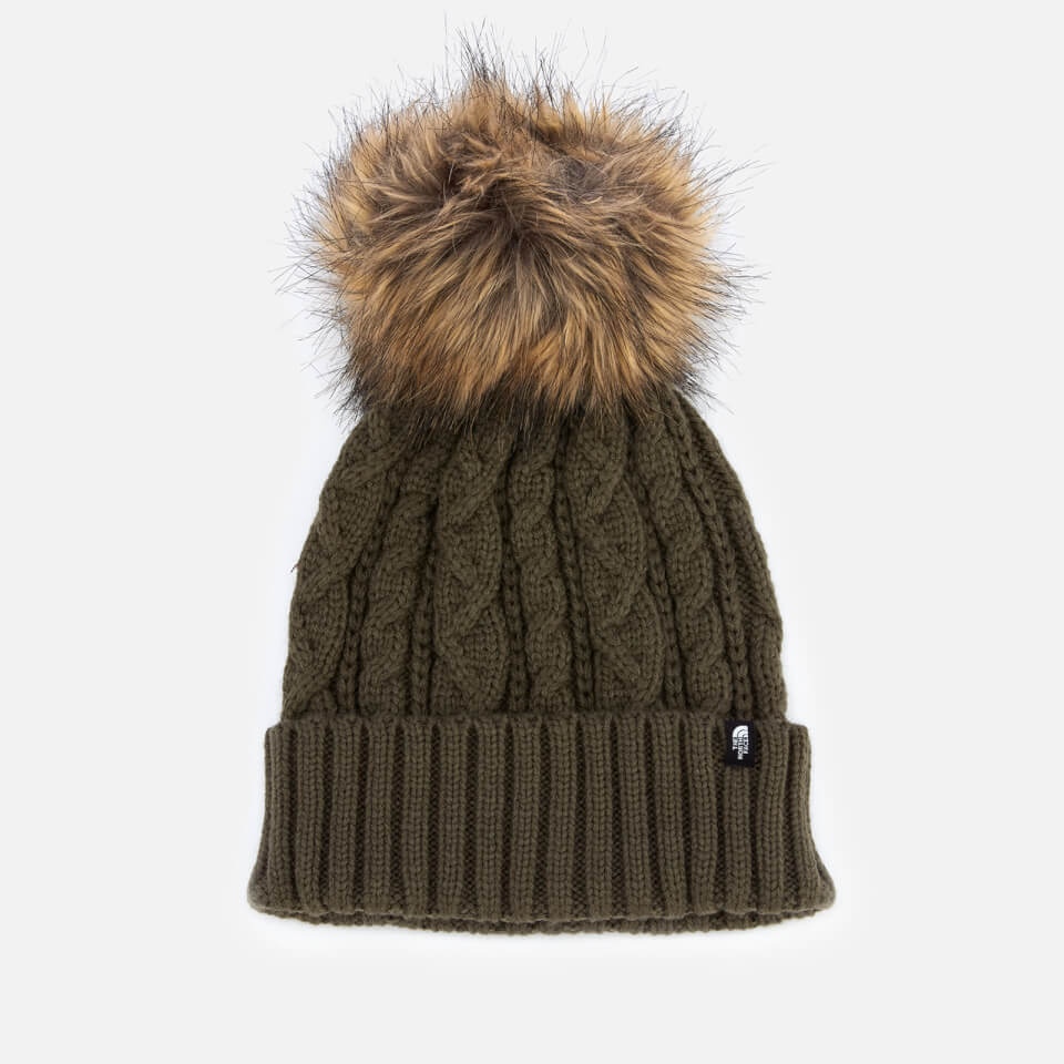 e4828c3db The North Face Women's Oh-Mega Fur Pom Beanie - New Taupe Green