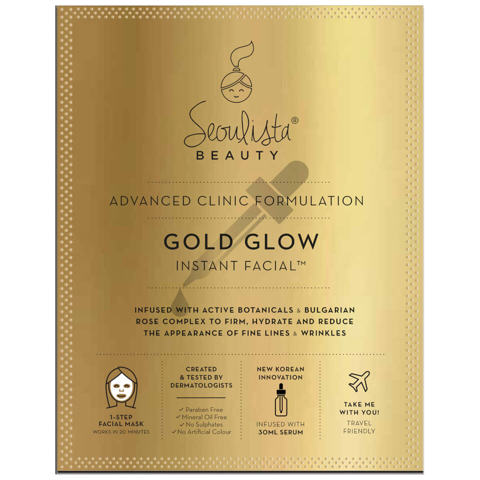 Seoulista Beauty Gold Glow Instant Facial Free Shipping