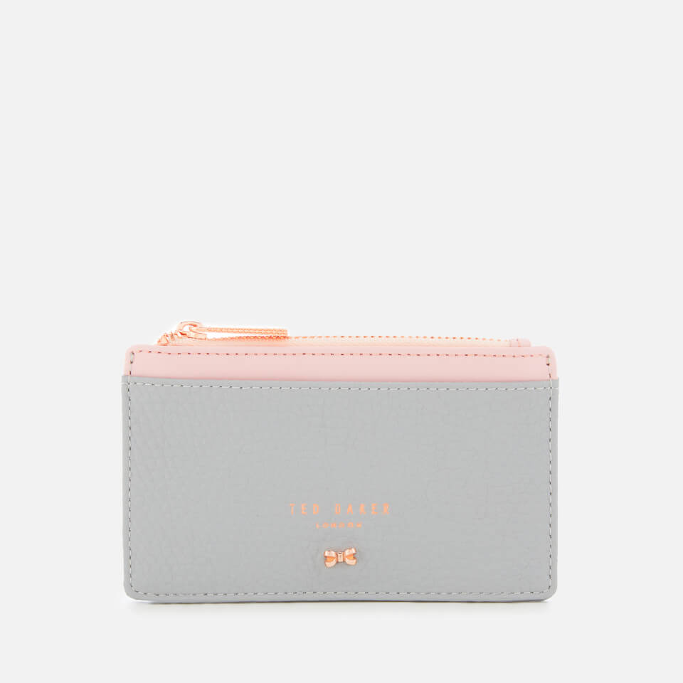 678893bf2a5cfa Ted Baker Women s Lori Textured Zipped Credit Card Holder - Grey