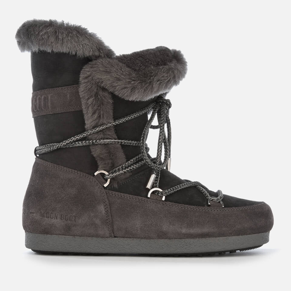 Moon Boot Women S High Shearling Boots Anthracite Womens