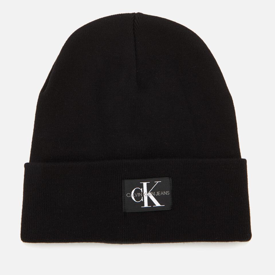 Calvin Klein Women s J Monogram Beanie Hat - Black 7eaff1946b
