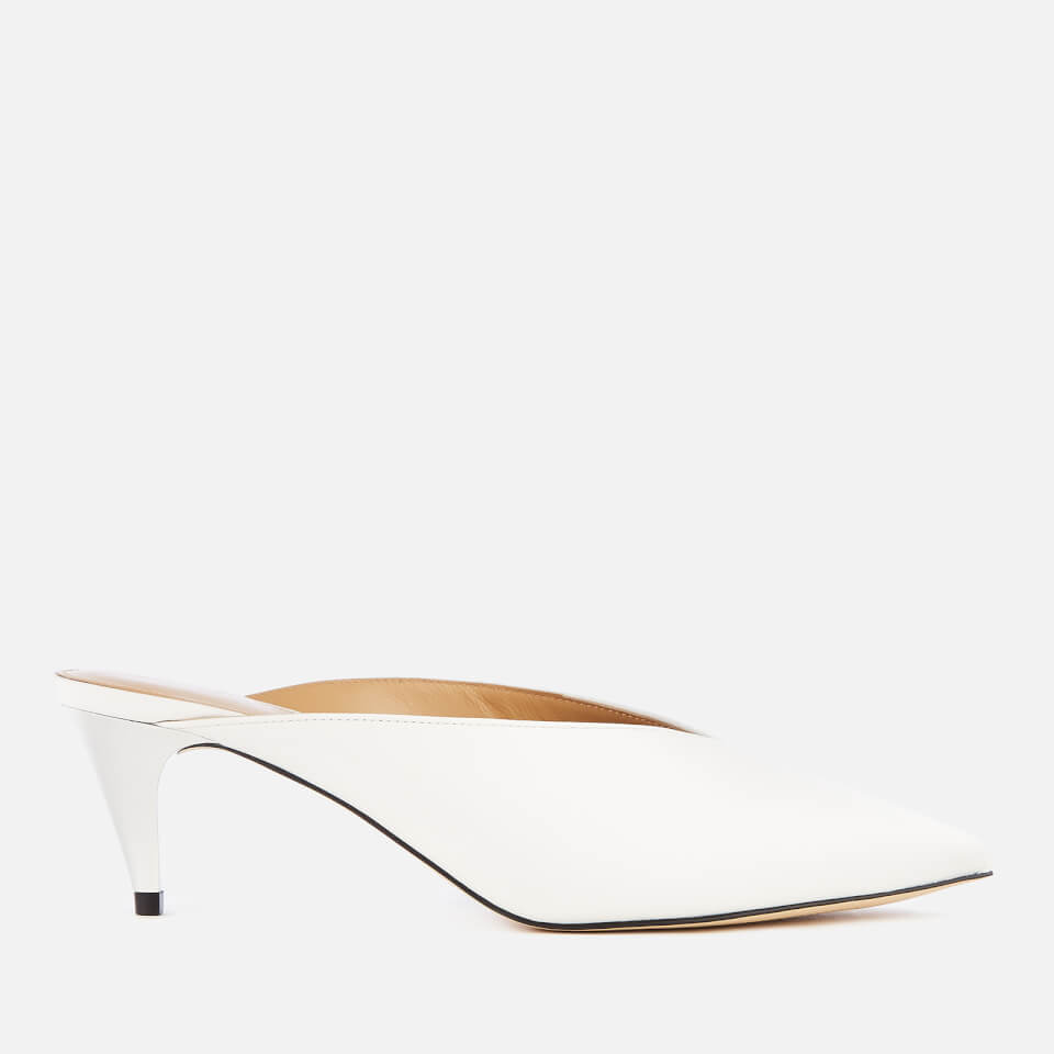 734d37dddf9a MICHAEL MICHAEL KORS Women s Cambria Leather Mules - Optic White ...