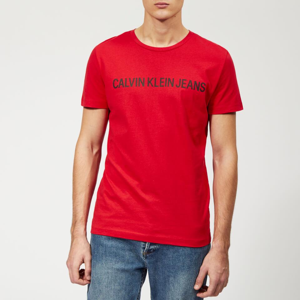 fee10dc925 Calvin Klein Jeans Men s Institutional Logo Slim T-Shirt - Racing Red  Clothing