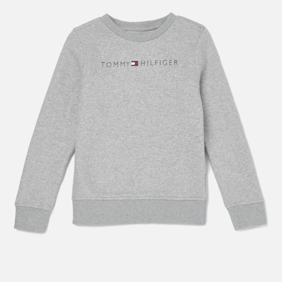 6467ec19 Tommy Hilfiger Boys' Essential Tommy Logo Sweatshirt - Grey Heather  Clothing   TheHut.com
