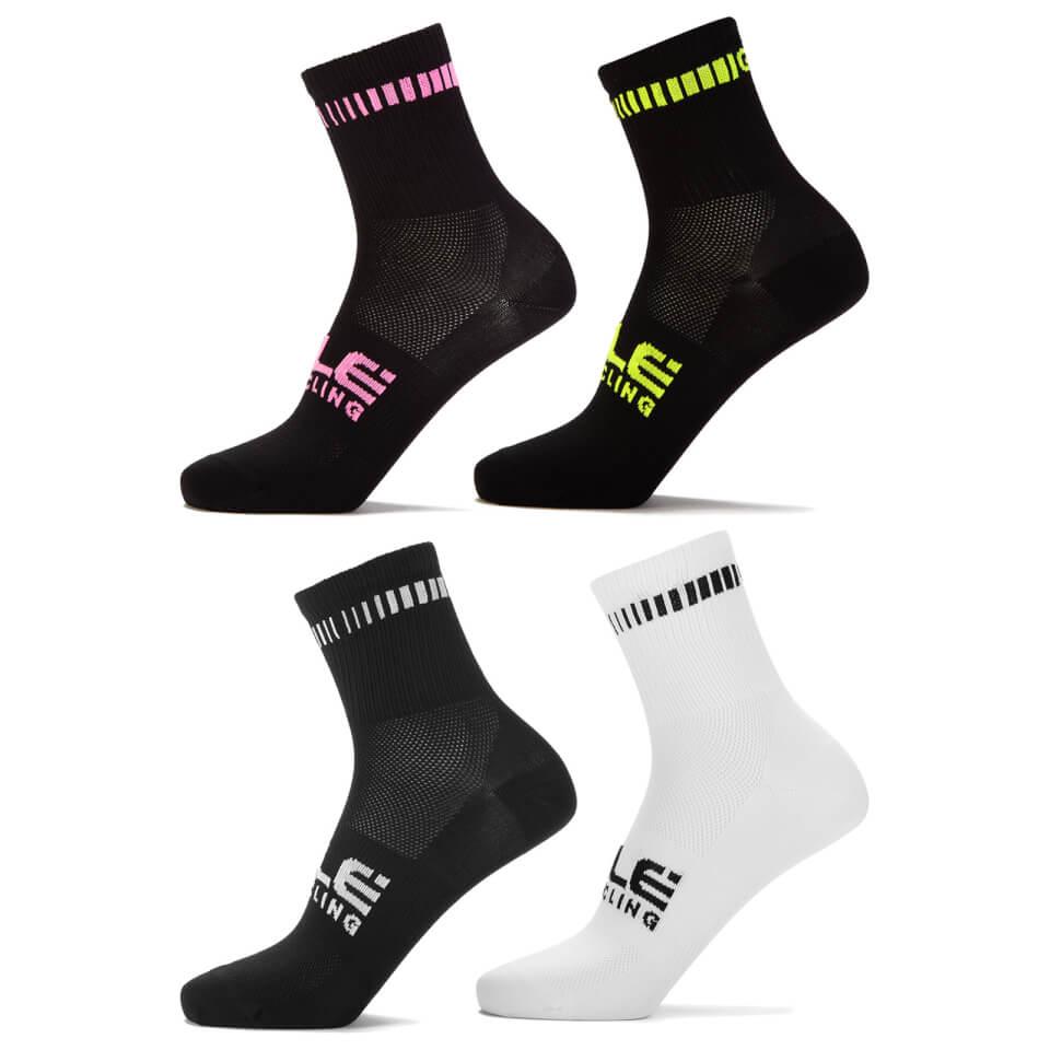 Ale Logo Q-skin socks - Yellow fluo | Strømper