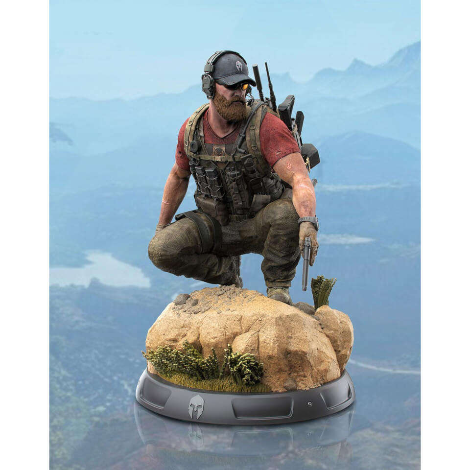 GHOST RECON WILDLANDS COLLECTOR/'S EDITION STATUE PATCHES LITHOGRAPH STEELBOOK