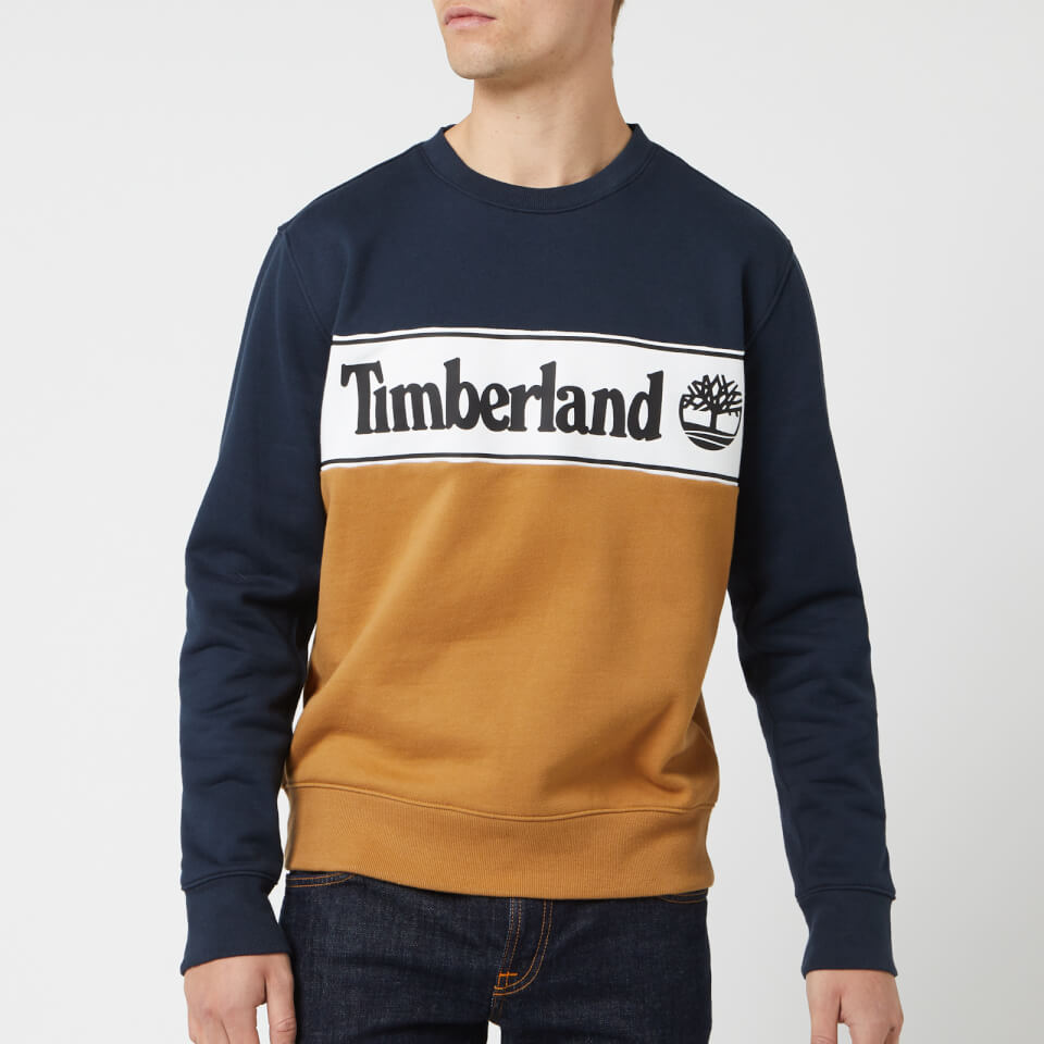 Grey Timberland Mens Cut /& Sew Logo Sweatshirt